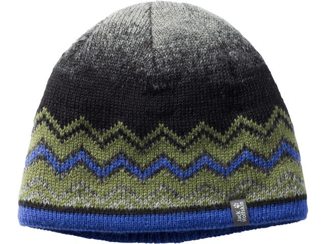 Jack Wolfskin Colorfloat Knit Hoofdbedekking Kinderen grijs/olijf